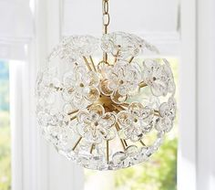 Flower Pop Chandelier, $300, 15in diam (little larger than the rest)