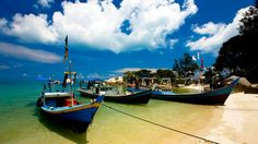 Belitung Island, fishing boats