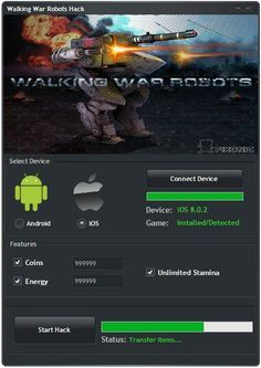 Free download walking war robots Hack Tool No Survey or Password required for it. Get walking war robots hack cheats & add infinite coins, energy & levels..