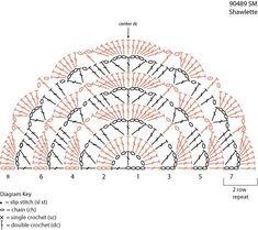 Crochet Half Mandala - Chart
