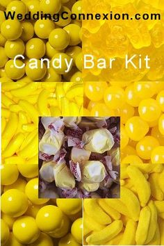Budget-friendly yellow candy buffet candy kit.
