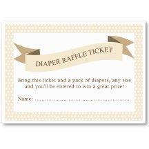 wording for diaper raffle for shower -