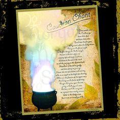CAULDRON CHANT Digital Download Book of by MorganaMagickSpell