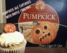 New Belgium Pumpkick Ale Cupakes with Maple Frosting by Booze, Sugar & Spice