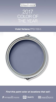 2017 Paint Color of the Year, Violet Verbena! Violet Verbena adapts to surrounding environments and complements a variety of design aesthetics, from playful rooms to tranquil spaces