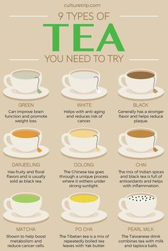 9 Types of Teas You Need to Try