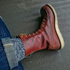 Red Wing 877 + Indigofera Ray Hand Dip jeans