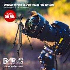 Este verano busca el punto de apoyo para tu cámara!!!... ¿Aún no tienes trípode?... Disponemos de fantásticos precios para que este verano tengas el tuyo.  Visita: http://bargainfotos.com/483-tripodes#/