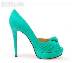 turquoise peep toe pumps for the bridesmaids--with purple dresses?