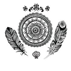 boho back tattoo - Google Search
