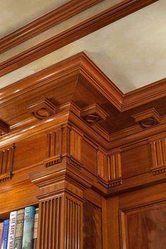 Donadic Inc Construction Management Wooden Door Design, Wooden Doors, Home Library Design, House Design, Interior Trim, Interior And Exterior, Wood Molding, Moldings, Architecture Design