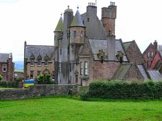 Maybole Castle from the northish Pink Houses, Old Houses, West Coast Scotland, Self Catering Cottages, Best B, Scotland Travel, Bed And Breakfast, Barn, Mansions