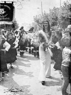 Recibimento en Cangas en 1975 á Miss canguesa. // Santoro