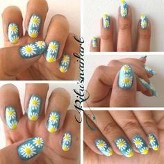Hippie Nail Art, Hippie Nails, Simple Nail Art Designs, Easy Nail Art, Nail Art For Beginners, Makeup, Beauty, Make Up, Beauty Makeup