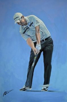 Golfing Greats are painted by the celebrated Sporting Artist, Mark Robinson. Original Oils, Acrylics and Watercolors are available, as affordable prints from the paintings as well as originals from the collection. Robinson Golf Art was set up to promote M Golf Range Finders, Rory Mcilroy, Golf Art, Vintage Golf, Perfect Golf, Thing 1, European Tour, Golf Accessories, Prints For Sale