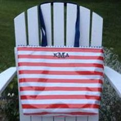 Nautical themed tote bag in classic red stripe and navy blue gingham in with a classic 3 letter monogram makes for a sharp looking tote bag. See all of IrresistiblesLLC's items - including cosmetic bags, tote bags, laundry/duffel bags, lunch bags, cinch saks, cross body bags, place mats, diaper bags, pillows, key chains and more at IrresistiblesLLC on Etsy. Fun & functional. Stylish and sturdy. Irresistibles.