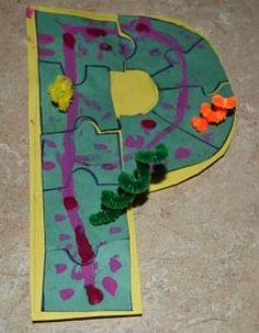 Alphabet Letter P is for Puzzle.      Alphabet Letter P is for Painted Puzzle! With this kids Alphabet