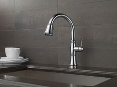A Beautiful Delta Cassidy Kitchen Faucet - 9197-AR-DST