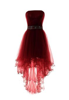 Tulle High Low wine red Homecoming Dress burgundy Prom Dress The most beautiful and newest outfit id Red High Low Dress, High Low Evening Dresses, Evening Gowns, High Low Dresses, Sexy Dresses, Dress Outfits, Short Dresses, Formal Dresses, Dance Dresses