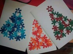 50 Cartões de Natal Artesanais e Criativos Christmas Arts And Crafts, Christmas Tree Cards, Noel Christmas, Christmas Activities, Handmade Christmas, Holiday Crafts, Christmas Gifts, Christmas Decorations, Xmas Trees