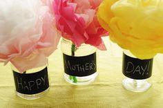 Chalkboard Vases for Mother's Day