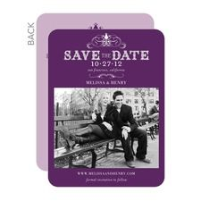 Haute Heraldry Save The Date Cards