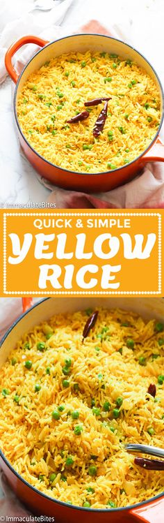 African style 480829697716055093 - Yellow Rice – Immaculate Bites Source by erineatingpaper Rice Recipes, Casserole Recipes, Indian Food Recipes, Great Recipes, Dinner Recipes, Cooking Recipes, Healthy Recipes, Easy Recipes, African Recipes