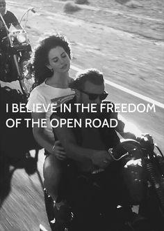 My favorite Lana Del Rey. Soul sister on the road.