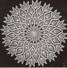 Vintage Crochet Pineapple Doily Centerpiece PATTERN in | eBay