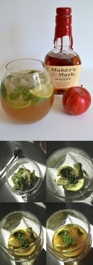 Apple Bourbon Mojitos