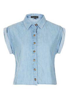 Petite Short Sleeve Crop Shirt - New In This Week  - New In