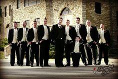 Handsom groomsmen, groom and ring bearer