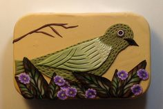 Polymer covered hinged tin in a bird and by MaryAnneLoveless