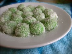 "Childhood Favorite: ""Klepon"" also known as ""Onde Onde"" I can totes live off this!"