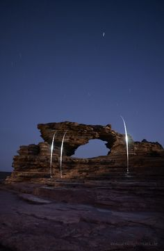 Light Painting and Landscape Photography: Nature's Window, Kalbarri National Park, Australia Night Photography, Landscape Photography, Kalbarri National Park, Light Painting, Western Australia, National Parks, Places To Visit, Window, Nature