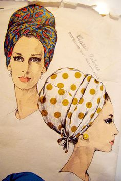 Vogue Hat Pattern by Halston of Bergdorf Goodman early by AppelJar, $24.50