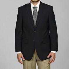 Men's Navy Blue 2-button Blazer