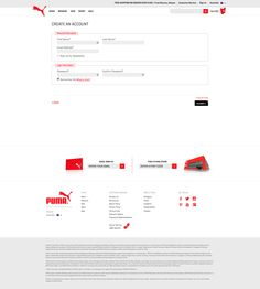 Puma Signup Page Part