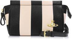 Vivienne Westwood Santa Monica Black & Peach Stripe Eco-Leather Crossbody Bag on shopstyle.com.au
