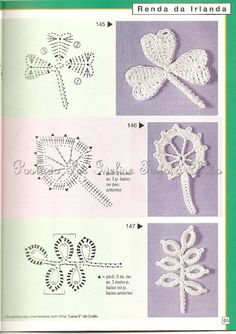 Ivelise Hand Made: Reasons for Irish Crochet And Applications