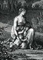 """Leto {goddess of motherhood / protectress of the young / goddess of modesty and womanly demure} """"hidden one""""; daughter of Coeus and Pheobe   mother of Artemis and Apollo by Zeus"""