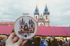 Вышивка. Прага.