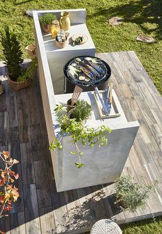 Garden Design On A Budget - New ideas Outdoor Kitchen Bars, Bbq Kitchen, Outdoor Kitchen Design, Outdoor Rooms, Outdoor Dining, Outdoor Gardens, Outdoor Decor, Backyard Patio, Backyard Landscaping