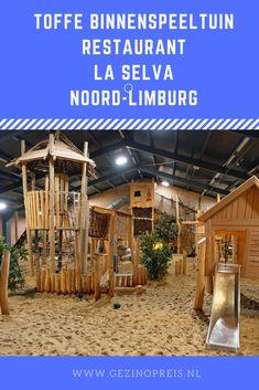 Restaurant La Selva heeft een toffe binnenspeeltuin met veel hout en zand. Geen krijsparadijs maar echt leuk weg met je kids in Noord-Limburg.