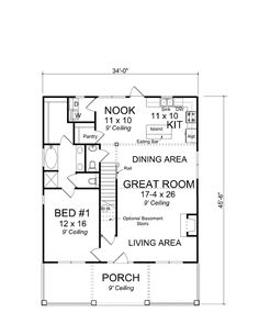 Cape Cod Country Level One of Plan 61403