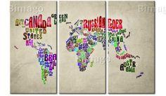 Tableau Pays colorés - triptyque - cliquez pour agrandir