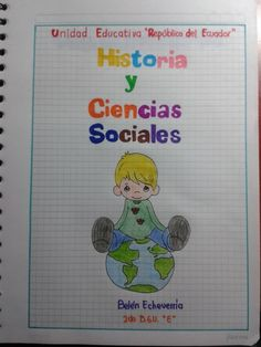 Cuaderno ciencias School Notebooks, Doodle Lettering, Notebook Covers, Picsart, Doodles, Bullet Journal, Clip Art, Classroom, Notes