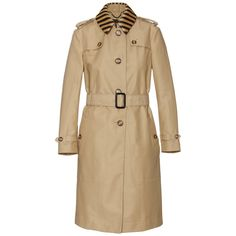 BURBERRY PRORSUM - TRENCH COAT WITH RAFFIA COLLAR (i want i want... i want this! hehe)