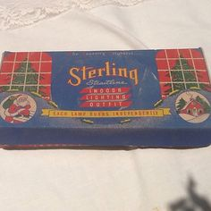 50s Sterling Straight line Colored Christmas by CandilandArt
