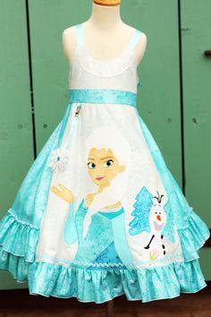 Disney Frozen Girls Dress sizes 2 3 4 5 6 7 8 by StyleDesignStudio